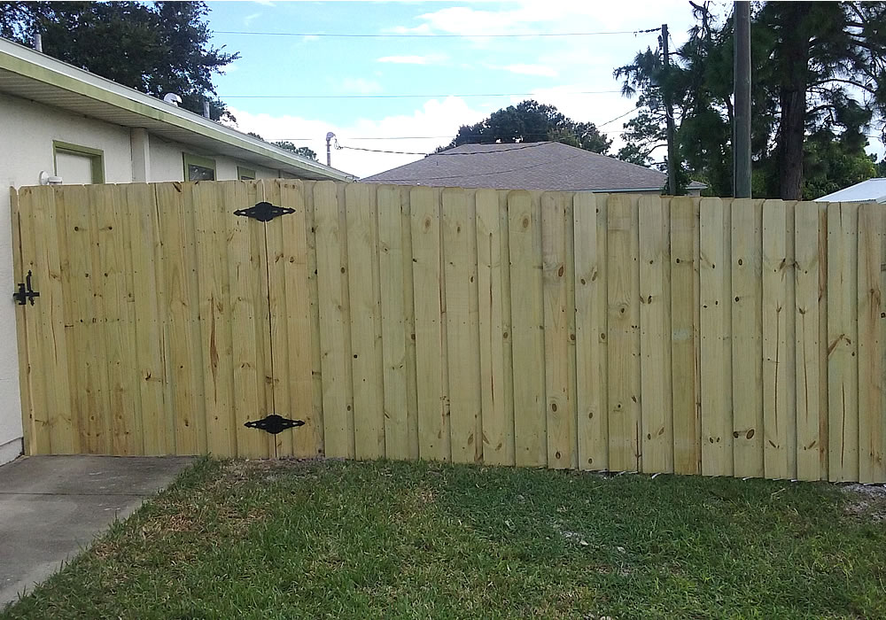Wood Privacy Fence Installation